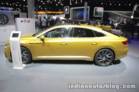 volkswagen arteon r line vw arteon r line profile at iaa 2017 indian autos blog