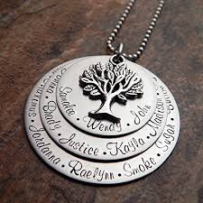 personalized family necklace grandmother s family tree necklace grandmother necklace personalized
