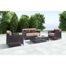 basketweave woven outdoor coffee table scenario home