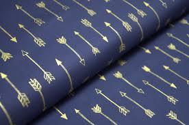 látky dle výrobce michael miller šípy na královské modré u