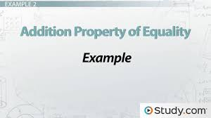 addition property of equality definition u0026 example video