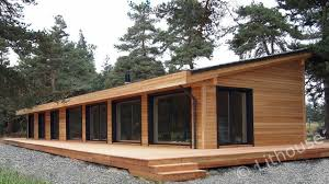 wood houses flo eric house modern extremely well insulated eco friendly