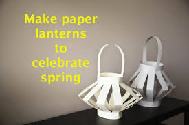 How To Make Paper Light Lanterns - paper scissors and are all that s needed to make paper lanterns