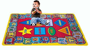 Abc Area Rugs Amazon Com Kids Rug Abc Shape Area Rug 5 U0027 X 7 U0027 Children Area Rug