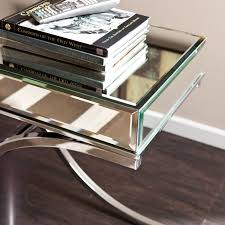Wildon Home Console Table Mirrored Console Table Free Bubbles Mirrored Console Table With