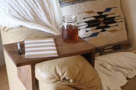 rustic sofa arm rest table couch tray arm rest tray