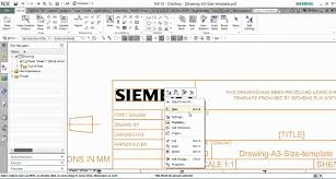 edit drawing template in nx 10 youtube