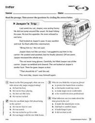 making inferences reading comprehension 3rd 4th grade worksheet