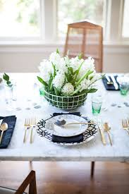 Coco Kelley A Fresh Easter Tabletop With A Marble Trellis Motif Coco
