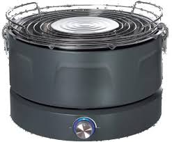cuisine quigg gtgwf01 charcoal barbecue with forced ventilation teknihall