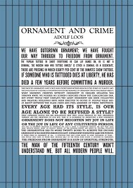 response from the reading ornament crime by adolf loos