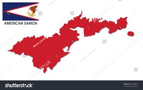 American Samoan Flag American Samoa Map Flag Stock Vector 336005609 Shutterstock