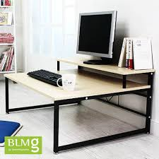 multi tiered computer desk qoo10 blmg sg multi 2 tier computer floor desk laptop desk