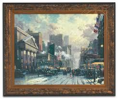 Seventh Avenue Home Decor by New York Snow On Seventh Avenue 1932 U2013 Framed Texture Print