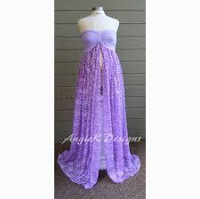 purple lavender dream mesh top stretch lace maternity dress