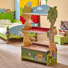 themed shelves kids room forest themed safari bookshelf beautiful multi