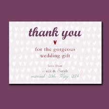 Wedding Gift Thank You Notes Personalised Engagement Or Wedding Thank You Card By Molly Moo