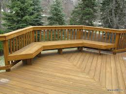 Wooden Deck Bench Plans Free by Deck Railing Ideas Easy Add Simple Seating Areas With Attractive