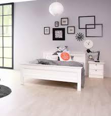 Schlafzimmer Bett Sandeiche Bett 140x200 Cm Weiß Günstig Bestellen Lifestyle4living De