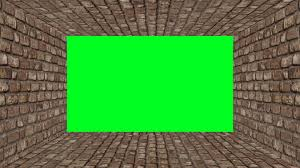 3d Room 3d Room With Green Screen Brick Wall Motion Background Videoblocks