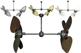 twin star ii ceiling fan twin star ii double ceiling fan with 50 inch outdoor blades the