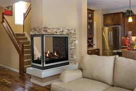 american hearth madison see through u0026 peninsula fireplaces