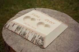 39 00 USD Personalized Birch Wood Ring Box Rustic Wedding Ring