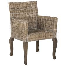 goreous rattan dining chairs straight back with high arms design