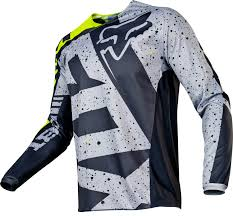 fox motocross shirts fox jersey 180 nirv grey yellow 2017 maciag offroad