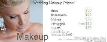 make up prices for wedding wedding makeup prices wedding corners