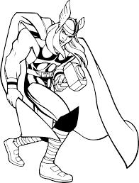 Coloriage Thor gratuit à imprimer