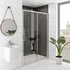 Easy Clean Shower Doors Mode Hardy Premium 8mm Easy Clean Sliding Shower Door 1700mm