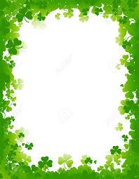 green clover st patrick u0027s day background border stock photo