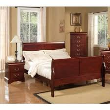cherry sleigh bed louis philippe ii cherry sleigh bed free shipping today