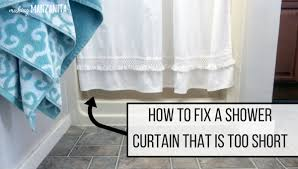 How Long Are Shower Curtains How To Fix A Shower Curtain That Is Too Short Making Manzanita