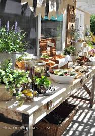 Patio Buffet Table Great Idea This Table Adds Charm To The Patio And Backyard Year
