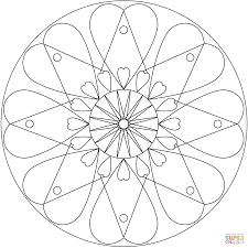 heart mandala coloring page free printable coloring pages