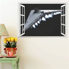 kids bedroom wall decor for children39s bedding sets double home decor large size online get cheap spaceship wall stickers aliexpress com alibaba star wars