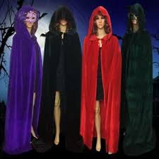 Halloween Costume Cape Halloween Costume Vampire Witchcraft Cape Gothic Hood Velvet Cloak