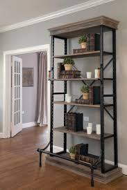 Reclaimed Wood And Metal Bookcase Best 25 Metal Shelving Ideas On Pinterest Metal Shelves