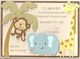 classic jungle theme baby shower invitations horsh beirut