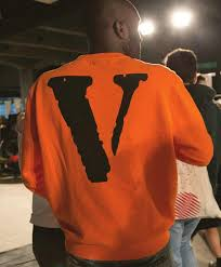 vlone x off white virgil abloh a ap rocky orange long sleeve