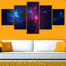 5 set painting galaxy for living room you can see the milky way galaxy planet universe painting for living room