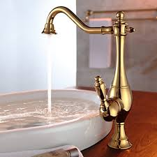 gold kitchen faucets vintage style ti pvd finish curve design gold kitchen faucet