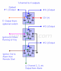 how to wire relays one channel to multiple outputs