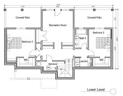 Floor Plans With Basement by Stylist Design Ranch Home Floor Plans With Walkout Basement House