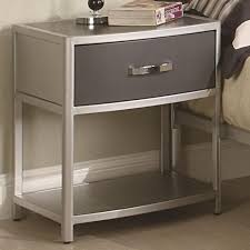 Metal Nightstands With Drawers Enthralling Metal Nightstands With Drawers Of Nightstand Legs