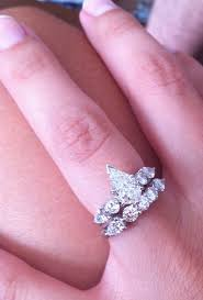 square engagement rings with band pear shaped engagement rings with wedding bands mindyourbiz us