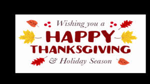 happy thanksgiving to all my friends and family happy