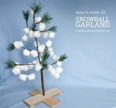 diy snowball christmas garland whitehouseblackshutters com